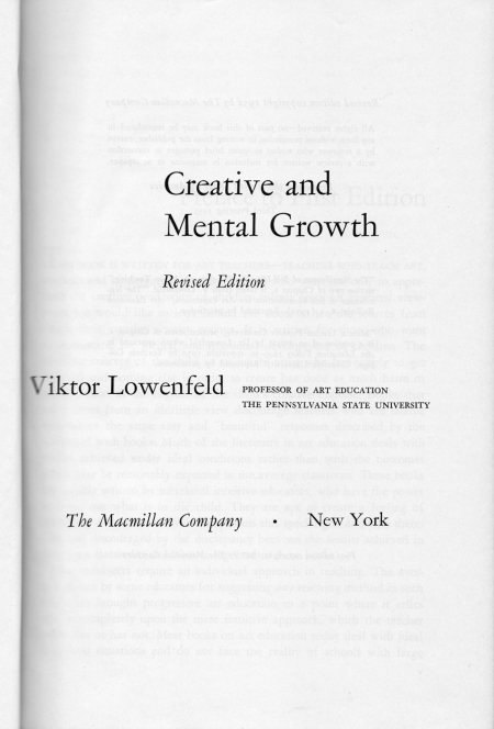 Creative and mental growth, title page